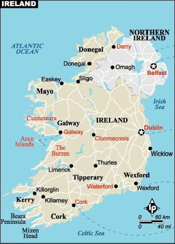 Bu sayfada irlanda haritası görüntülenmektedir diğer ülke